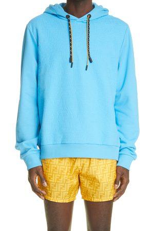 Fendi Men's X Sarah Coleman Fisheye Rubberized Logo Cotton Hoodie