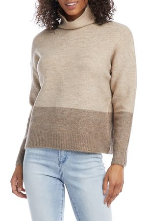 Karen Kane Women's Colorblock Cowl Neck Sweater
