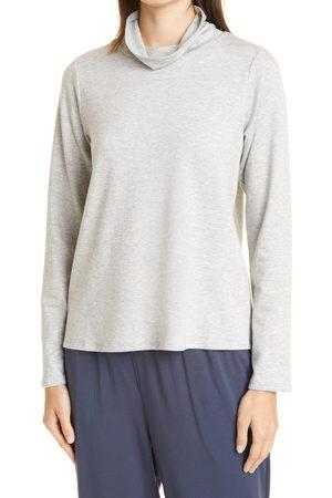 Eileen Fisher Women's Scrunch Neck Fleece Sweater