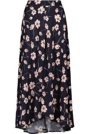 Velvet Flora printed maxi skirt