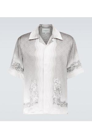 Casablanca Printed silk short-sleeved shirt