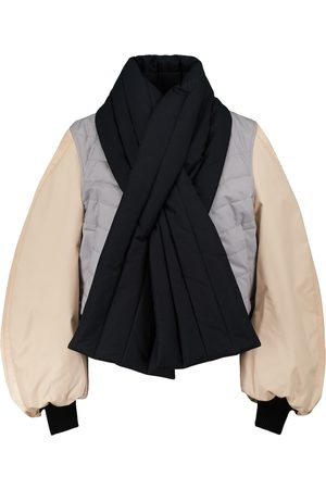 Loewe Cotton toile and satin bomber jacket
