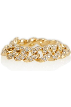 Shay 18kt chain ring with diamonds