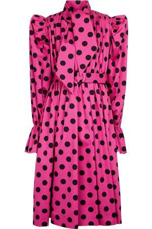 Balenciaga Polka-dot cotton midi dress
