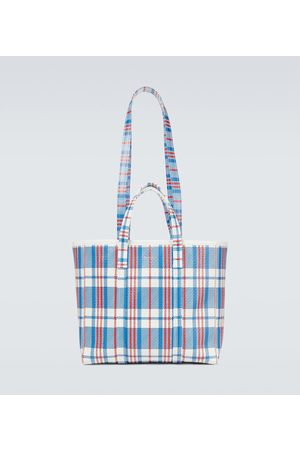 Balenciaga Barbes East-West leather shopping tote bag