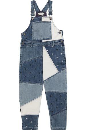 Stella McCartney Patchworked denim overalls