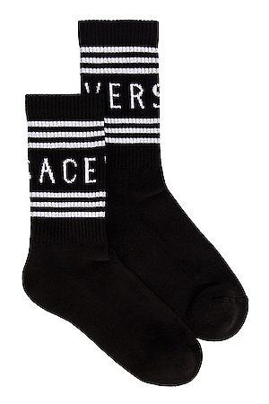 VERSACE Logo Socks in