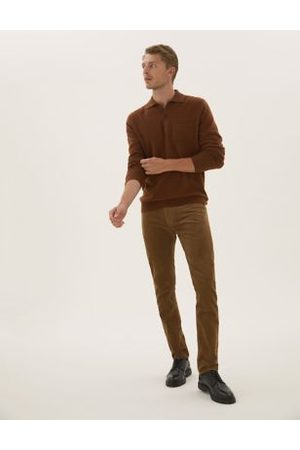 Marks & Spencer Slim Fit Corduroy 5 Pocket Trousers