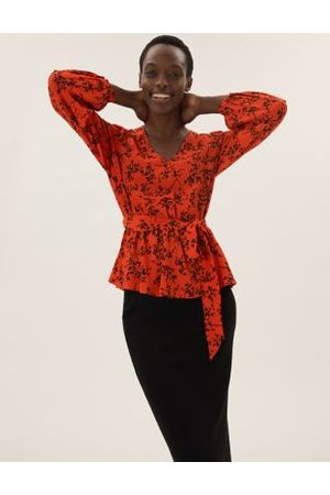 Marks & Spencer Flora Long Sleeve Wrap Top