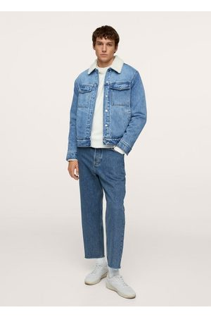 MANGO Tapered loose cropped jeans