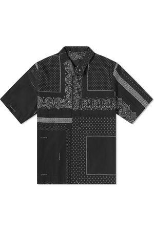 Givenchy Men Shirts - Bandana Print Zip Shirt