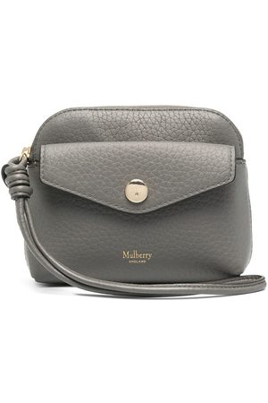 Mulberry Press-stud coin pouch - Grey