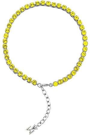 Amina Muaddi Crystal-embellished Tennis anklet