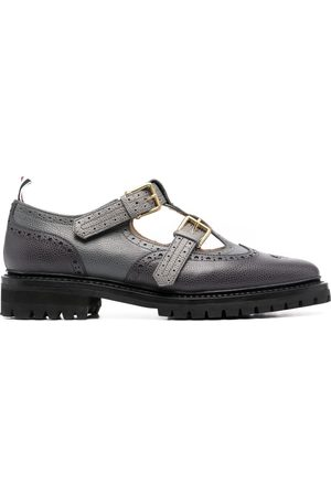 Thom Browne Women Formal Shoes - Double monk strap John shoes - Grey