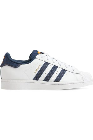 ADIDAS ORIGINALS Boys Sneakers - Superstar Leather Lace-up Sneakers