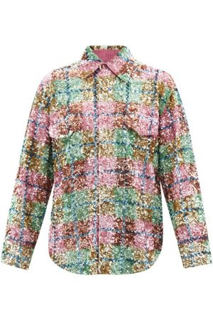 Ashish Sequin-embellished Checked Cotton-jersey Shirt - Womens - Multi