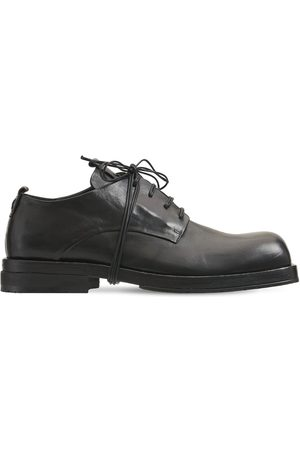 ERNESTO DOLANI Ruvido Leather Lace-up Derby Shoes