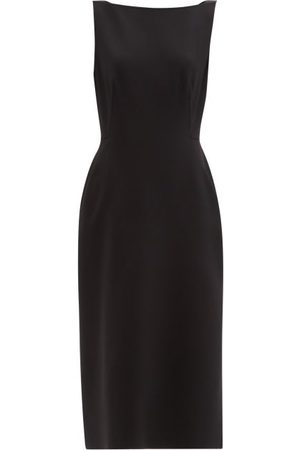 Another Tomorrow Boat-neck Wool-blend Dress - Womens