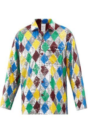 ASHISH Sequin-harlequin Lame Pyjama Shirt - Womens - Multi