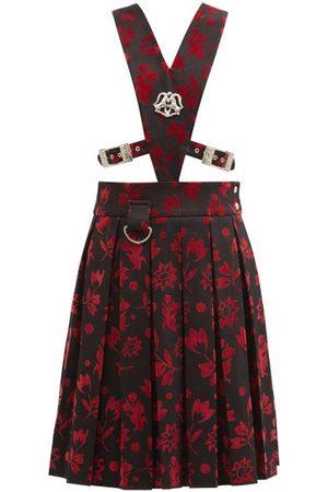Chopova Lowena Vebula Upcycled Flocked Cotton Pinafore Dress - Womens - Multi