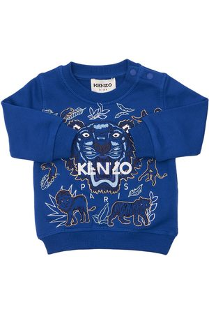 KENZO KIDS Embroidered Tiger Cotton Sweatshirt