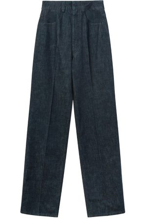 Lemaire Denim Straight-leg Trousers - Womens - Dark Indigo