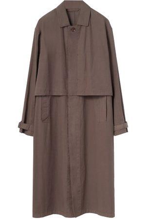 Lemaire Storm-flap Canvas Overcoat - Mens