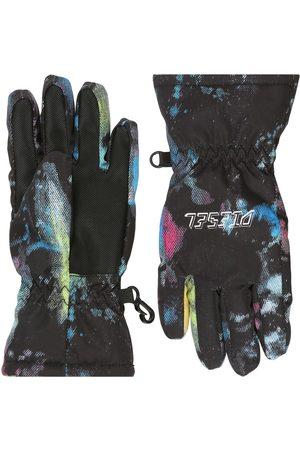 Diesel Printed Recycled Nylon Puffer Ski Gloves
