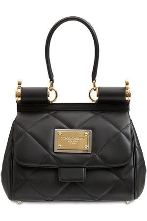 DOLCE & GABBANA Sicily Matelasse Mini Top Handle Bag