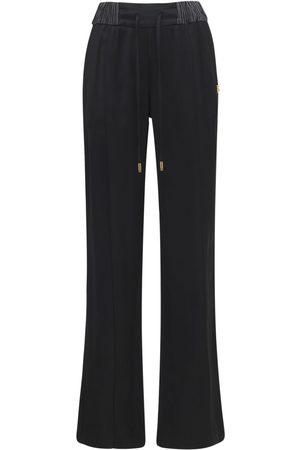 Dolce & Gabbana Viscose Satin Wide Leg Pants