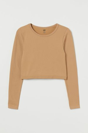 H & M Cropped Seamless Sports Top