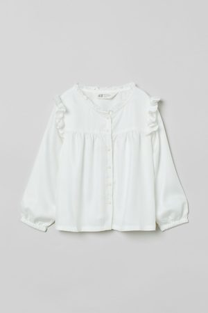 H & M Ruffle-trimmed Blouse