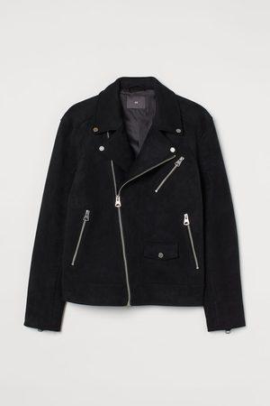 H & M Men Leather Jackets - Faux Suede Biker Jacket