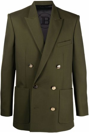 Balmain Peak-lapel double-breasted blazer