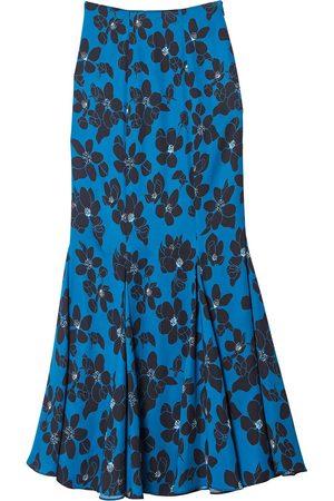 Carolina Herrera Women Printed Skirts - Floral-print flounce-hem skirt