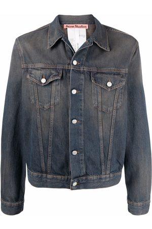 Acne Studios Men Denim Jackets - Faded-effect denim jacket
