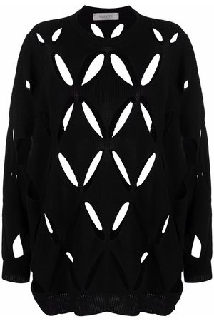 VALENTINO Women Long sleeves - V cut-out long-sleeve knitted jumper
