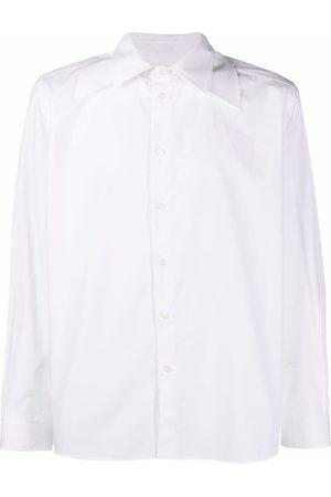 VALENTINO Spread-collar cotton-poplin shirt