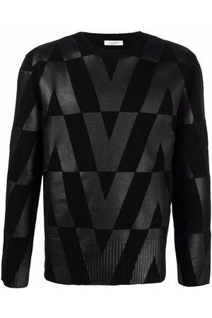 VALENTINO Monogram-print long-sleeve jumper