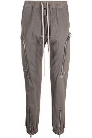 Rick Owens Men Cargo Pants - Bauhaus cargo track pants - Grey