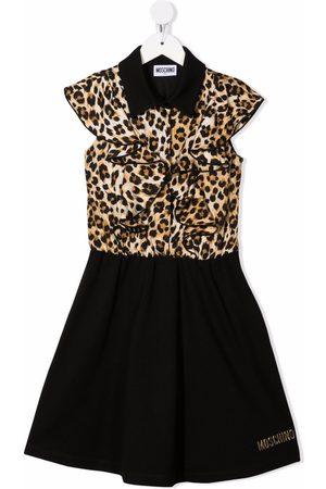 Moschino Leopard-print panelled dress - Neutrals