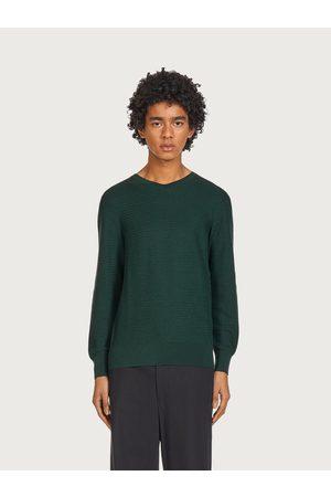Salvatore Ferragamo Men Sweatshirts - Men V-neck sweater