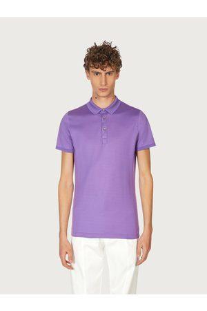 Salvatore Ferragamo Men Short Sleeve - Men Short sleeved polo shirt Violet