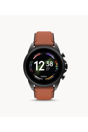 Mens Men Smart Watches - Fossil Men's Gen 6 Smartwatch Leather
