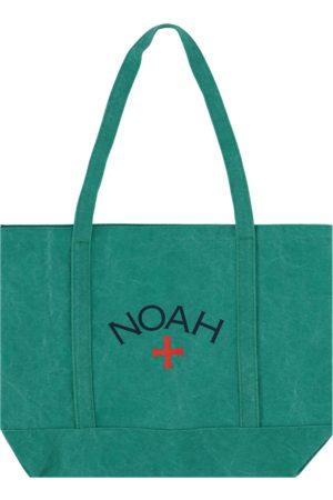 Noah Men Rucksacks - Recycled canvas core logo tote bag EMERALD U