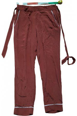 Sézane Spring Summer 2019 silk straight pants