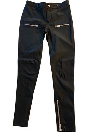 ANINE BING Women Leather Pants - Fall Winter 2019 leather slim pants