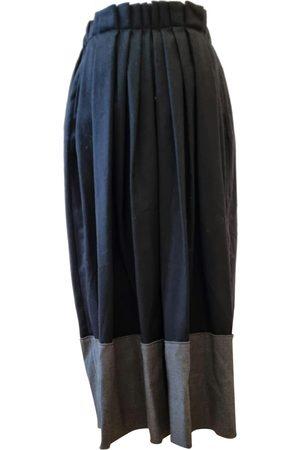 LORENA ANTONIAZZI Wool maxi skirt
