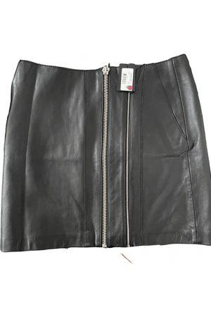 Maje Fall Winter 2019 leather mini skirt