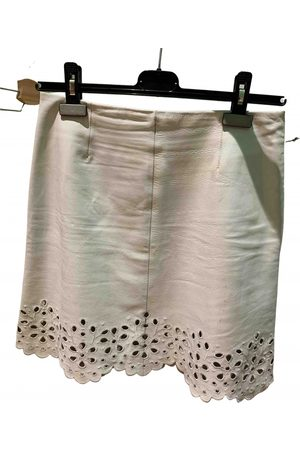 Céline Leather mini skirt